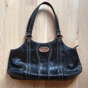 Authentic Vintage Gucci Logo Black Leather Purse